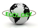 ECOLOGY inscription in green letters