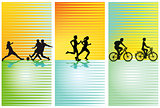 Sports, football, running, cycling