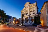 Facade of Saint Nicholas Cathedral in Monaco, Monte Carlo, Franc