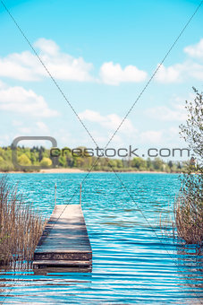Bathing jetty Chiemsee