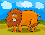 wild lion cartoon illustration