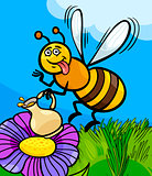 honey bee insect cartoon illustration
