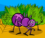 cross spider insect cartoon illustration