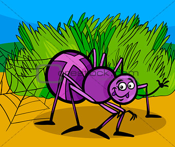 cross spider insect cartoon illustration