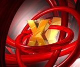 letter x in abstract space