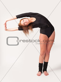 portrait of young dancing woman