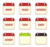 Vector calendar app icons