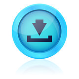 Blue vector download button