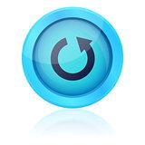 Blue vector repeat button