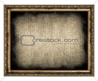 frame with empty canvas
