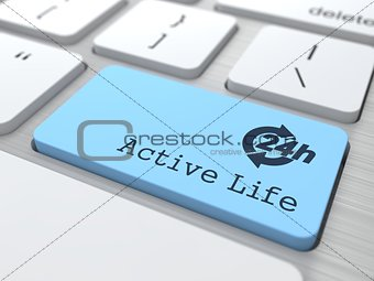 Lifestyle Concept - The Blue Active Life Button.