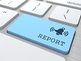 Business Concept - The Blue Report Button.