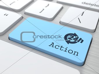 The Blue Action Button.