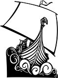 Viking Longship Sailing B