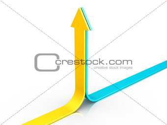 Two arrows pointing upwards