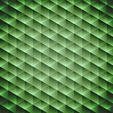 Green emerald geometric cubic background