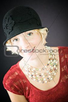 Beautiful lady portrait smiling