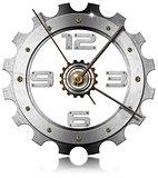 Gear Metallic Clock