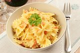 Tuscan farfalle with salmon