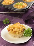 baked pasta muffin