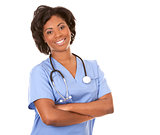 black medical nurse