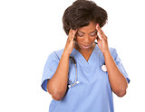 nurse having a headache