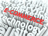 E-Commerce. The Wordcloud Business Concept.