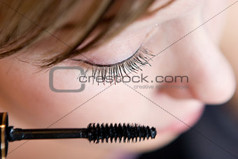 woman morning make-up