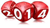 Dice 2014 Happy New Year