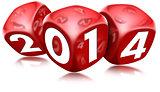 Dice 2014 Happy New Year