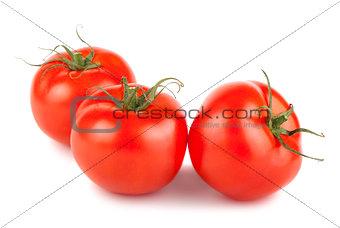 Three ripe tomato