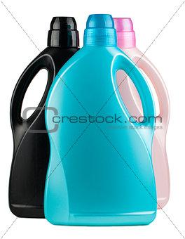 Three plastic bottles