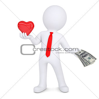 3d man changes heart on money