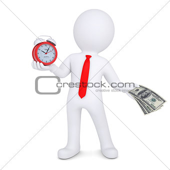 3d man changes the time on money