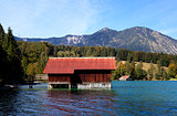 fishhouse on Walchensee in Alps