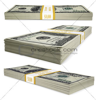 A pack of dollar bills