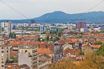 Capital of Croatia Zagreb western part