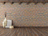 empty vintage interior with brick wall