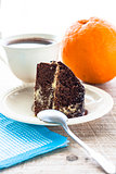 cake dessert brownie cocoa sweet coffee cup
