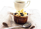 creamy dessert sweet coffee cup black wooden board