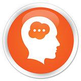 Idea head icon orange button