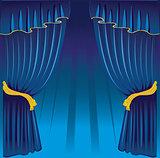 Curtain back