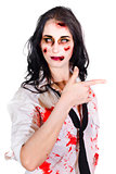 Zombie Woman Pointing