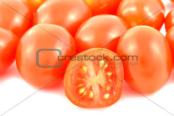 Fresh red cherry tomatoes