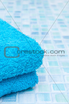 Blue Tiles in Bathroom