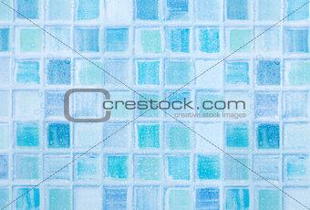 Blue Tiles in Bathroom