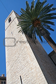 Tower of Saint Paul de Vence, French Riviera,