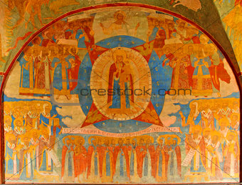A fresco of the Orthodox in the Church of John the Baptist