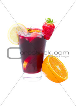 one glass of sangria