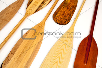 canoe paddle abstract